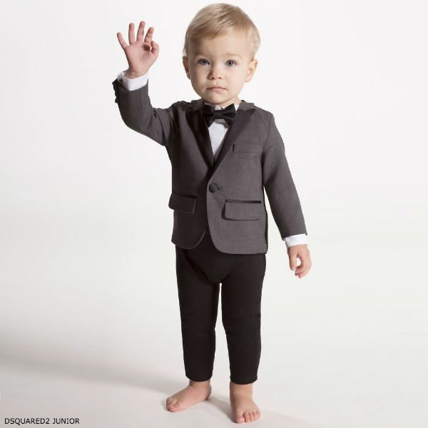 DSQUARED2 Junior Baby Boys Tuxedo Babysuit
