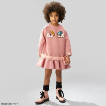 FENDI Girls Pink Neoprene Dress
