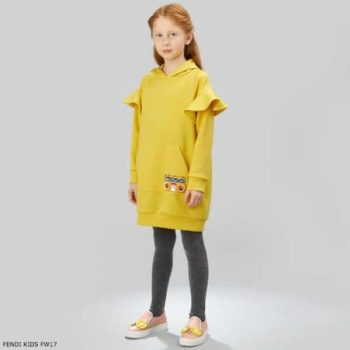 FENDI Girls 'Piro-Chan' Yellow Dress