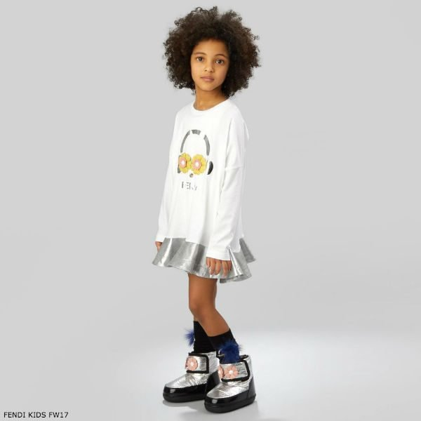 FENDI Girls White Piro-chan Dress