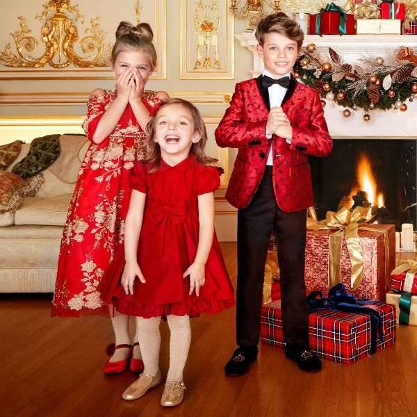 DOLCE & GABBANA Boys Mini Me Red Jacquard Jacket