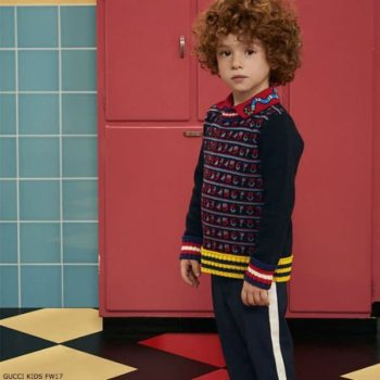 GUCCI Boys Blue Knitted Number Sweater