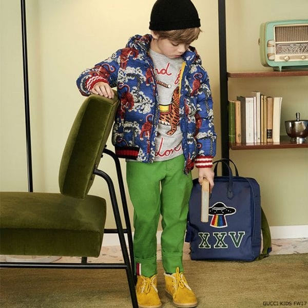 GUCCI Boys Down Padded Tiger Jacket Fall Winter 2017=18