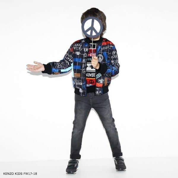 KENZO KIDS Boys Printed Varsity Jacket