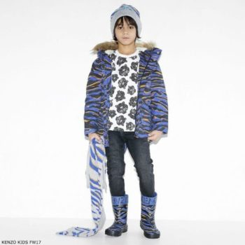 KENZO KIDS Boys Tiger Printed T-Shirt