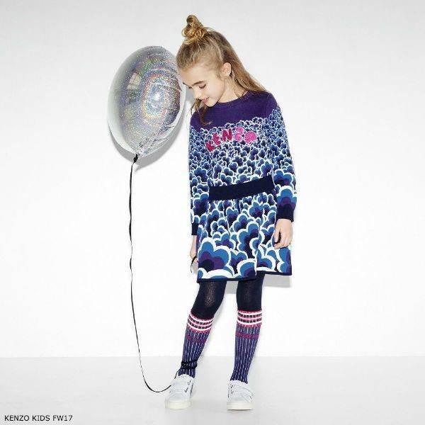 KENZO KIDS Girls Knitted Popcorn Dress