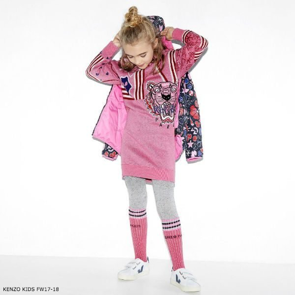 KENZO KIDS Girls Tiger Knitted Dress