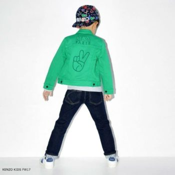 KENZO KIDS GREEN COTTON JEAN JACKET