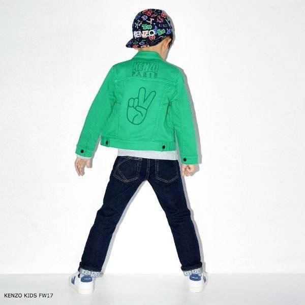 KENZO KIDS Green Cotton Jacket