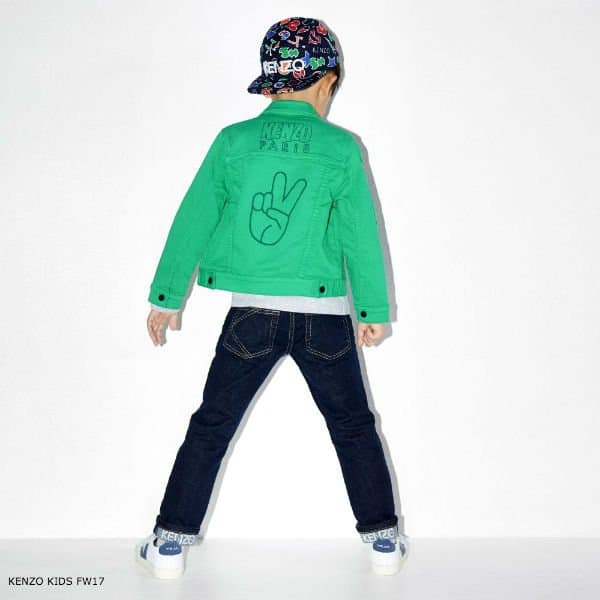 KENZO KIDS Green Cotton Jacket