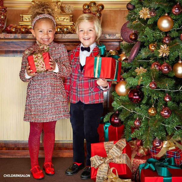 KIDIWI BOYS RED TARTAN & VELVET SUIT