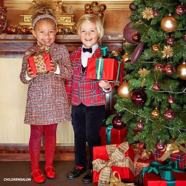 KIDIWI Boys Red Tartan & Velvet Suit