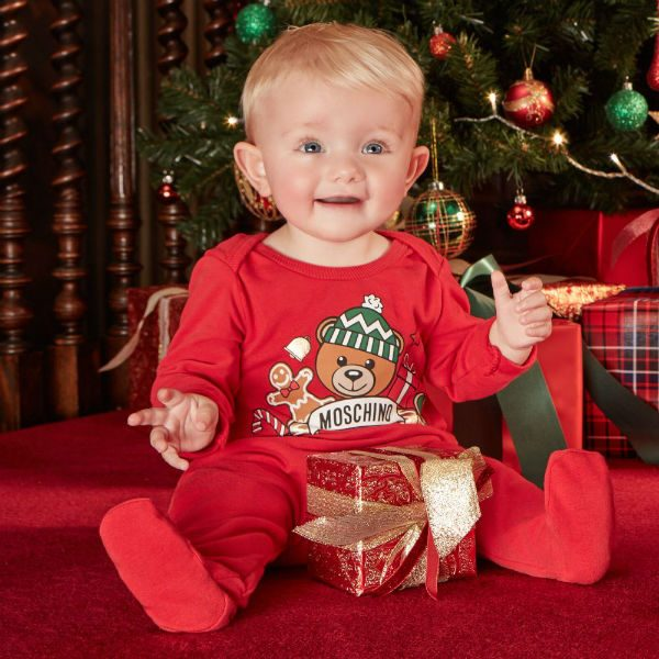 MOSCHINO BABY Festive Babygrow Gift Set