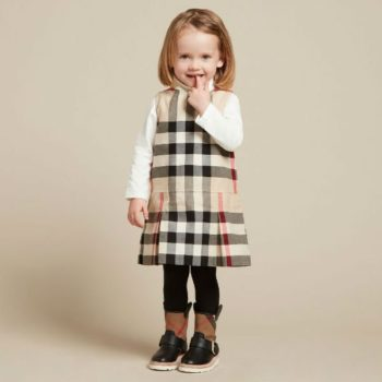 BURBERRY Little Girls Beige Mini Dawny Dress