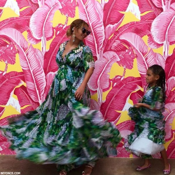 Beyonce & Blue Ivy Mommy & Me Dolce & Gabbana Ortensia Dress