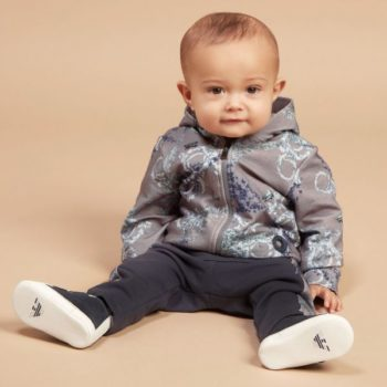 YOUNG VERSACE Baby Boys Grey Baroque Tracksuit