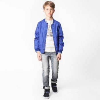 BOSS Boys Blue Jacket and Grey Skinny Fit Jeans for Spring Summer 2018