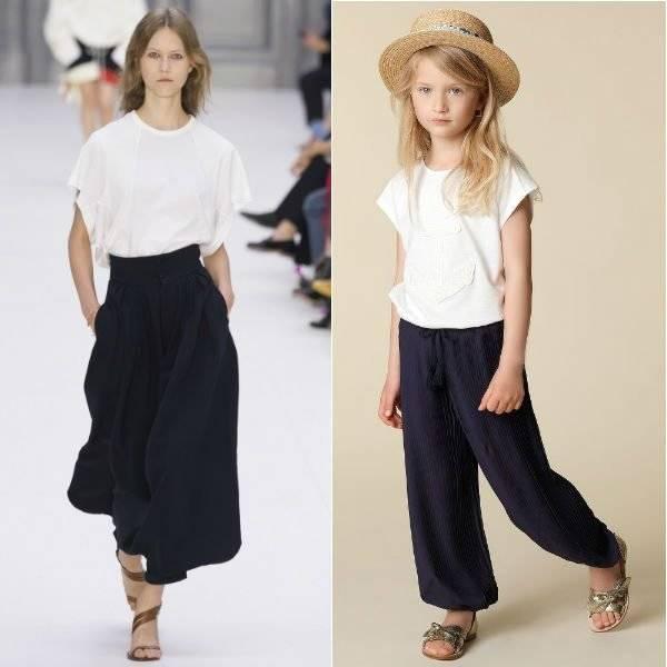 CHLOÉ Girls Mini Me White Shirt Blue Voile Trousers Spring Summer 2018