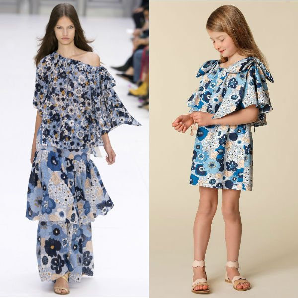 CHLOE GIRLS MINI ME BLUE FLORAL DRESS