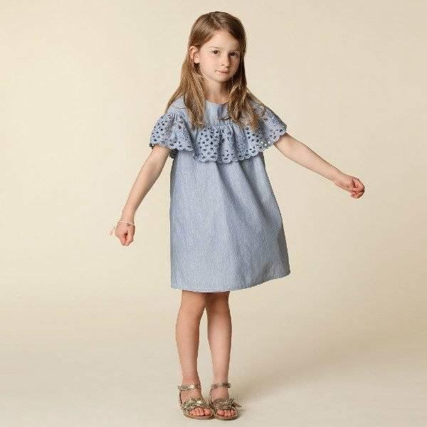 CHLOE Girls Broderie Anglaise Dress for Spring Summer 2018