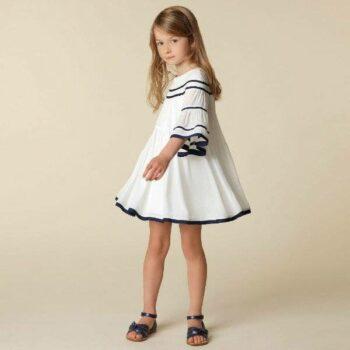 CHLOE GIRLS MINI ME WHITE CREPE DRESS