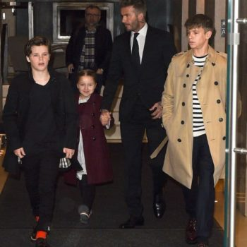 Cruz Harper David Romeo Beckham Burberry Coats NYFW