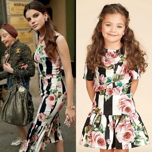 6d7261a9a4c0 DOLCE & GABBANA Girls Mini Me Love Christmas Rose Black Stripe Shirt Skirt