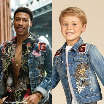DOLCE GABBANA JUNIOR BOYS MINI ME KING TIGER DENIM JACKET & JEANS