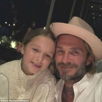David Harper Beckham New Years 2018 CHLOE Girls Ivory Lace Dress