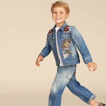 Dolce Gabbana Junior Boys King Tiger Denim Jacket & Jeans for Summer 2018