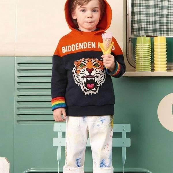 a9c90c27770fc4 GUCCI Cotton Paint Print Overalls Tiger Blue Orange Sweatshirt Spring  Summer 2018