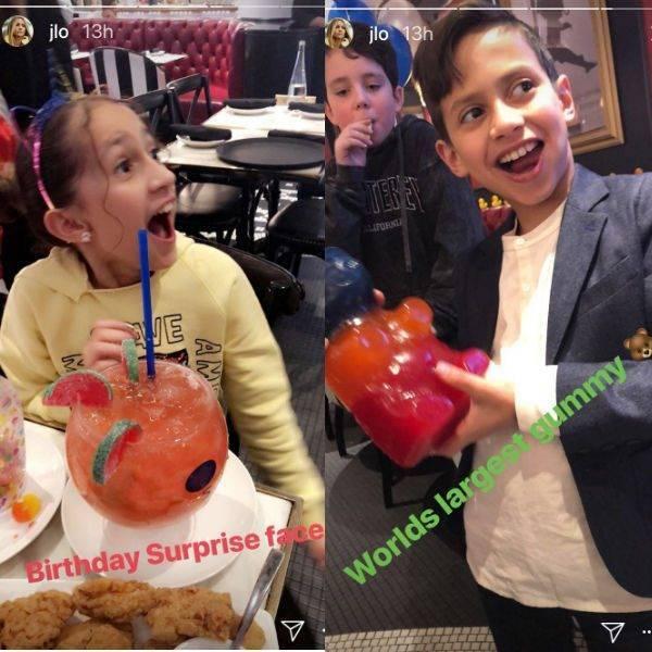 Jennifer Lopez Twins Emme Max Celebrate 10 Birthday Gucci Style