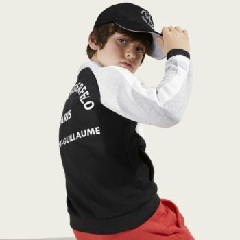 KARL LAGERFELD KIDS Boys Black & Grey Zip-up Top Cap Spring Summer 2018