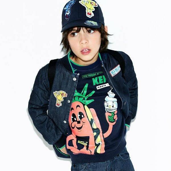 KENZO KIDS Boys Mini Me Food Fiesta Sweatshirt & Denim Jacket Spring Summer 2018