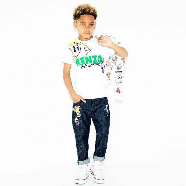KENZO KIDS Boys White Food Fiesta T-Shirt Sweatshirt Jeans Spring Summer 2018