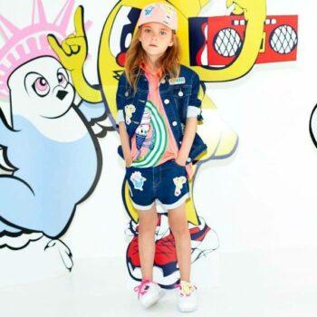 KENZO KIDS Girls Food Fiesta Denim Jacket Shorts & T-shirt Spring Summer 2018