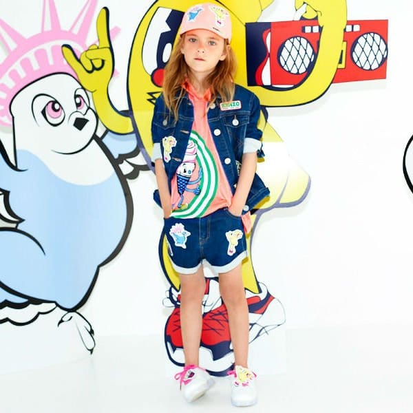 KENZO KIDS Girls Food Fiesta Denim Jacket Shorts & T-shirt Spring Summer 2018