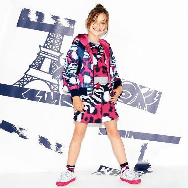 KENZO KIDS Girls Jungle Splash Bomber Jacket Sweatshirt Skirt Spring Summer 2018