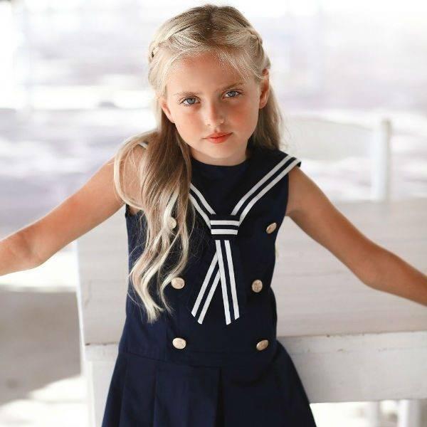 LAPIN HOUSE Navy Blue Sailor Dress Spring Summer 2018