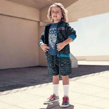 LITTLE MARC JACOBS Boys Blue Jersey Jacket & Shorts Spring Summer 2018