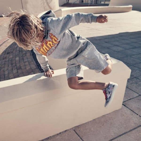 LITTLE MARC JACOBS Boys Flame Logo Sweatshirt & Jersey Shorts
