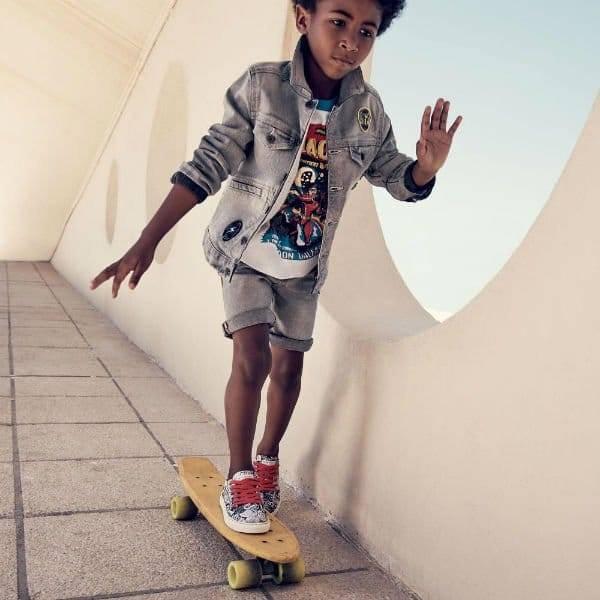 LITTLE MARC JACOBS Boys Grey Denim Jacket & Shorts