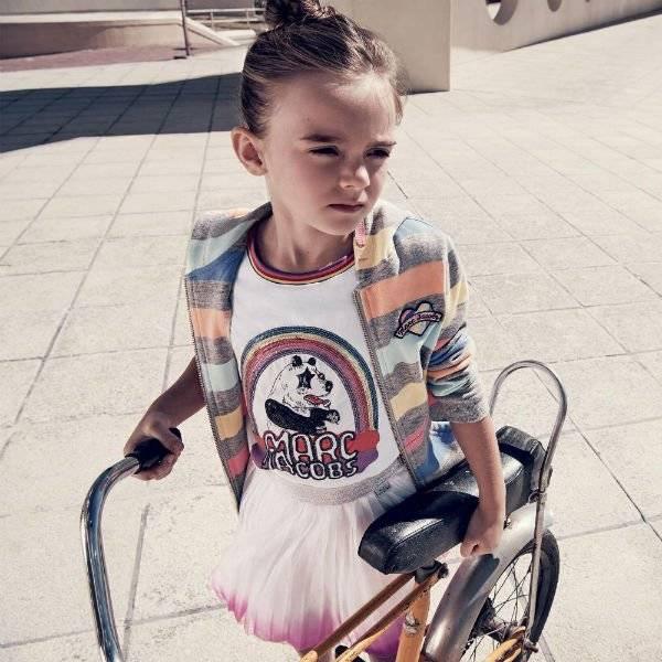 LITTLE MARC JACOBS Girls Rainbow Panda T-Shirt & Tulle Skirt