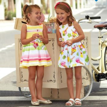 MAYORAL Girls Ice-Cream Print Cotton Dress Spring Summer 2018