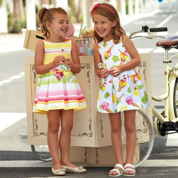 MAYORAL Girls Ice-Cream Print Cotton Dress Spring Summer 2018