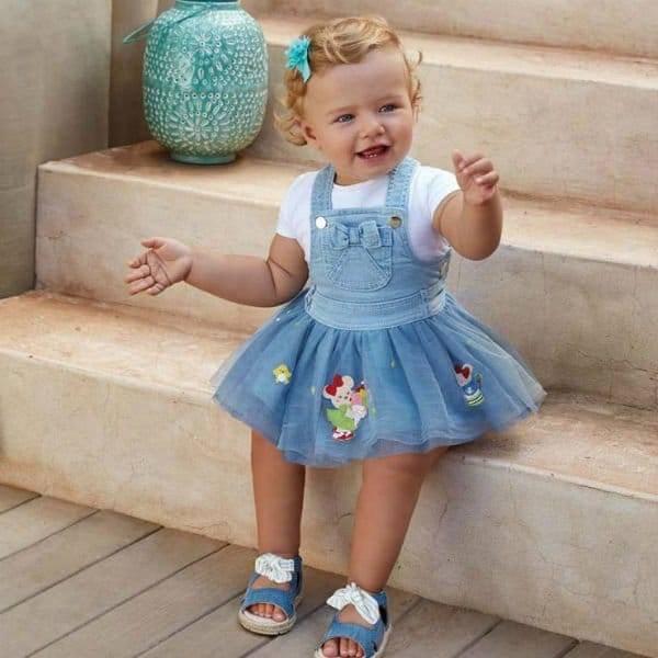 MAYORAL Baby Girls Blue Pinafore Dress