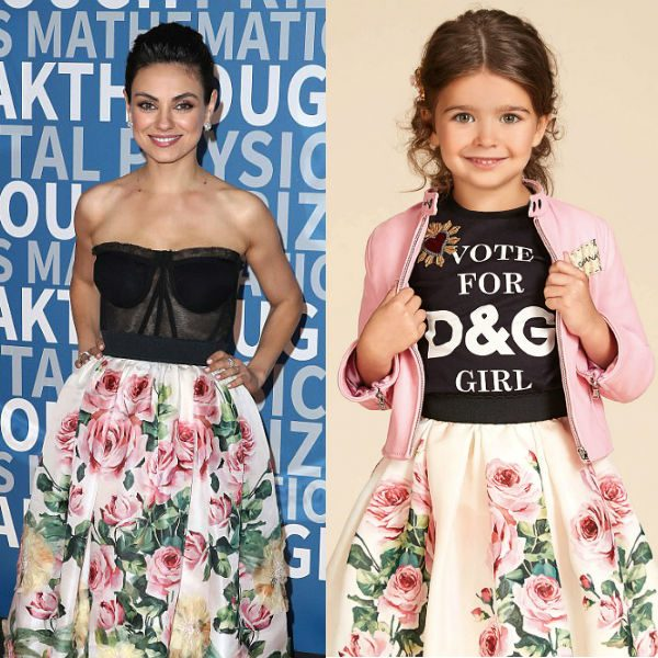 Mila Kunis Dolce Gabbana Love Christmas Rose Skirt at 2018 Breakthrough Prize NASA