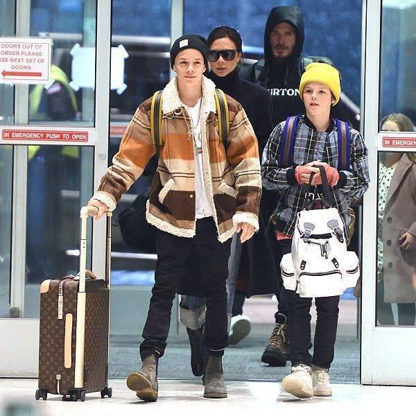 Cruz Beckham Wearing BURBERRY Boys Conwin Bomber Jacket