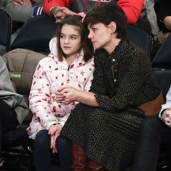 Suri Cruise Dolce Gabbana Ladybug Coat New York Knicks Dec 2017