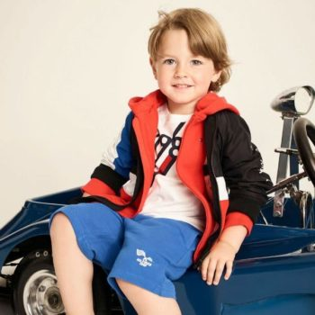 TOMMY HILFIGER Boys Colour Block Jacket Blue Shorts Spring Summer 2018
